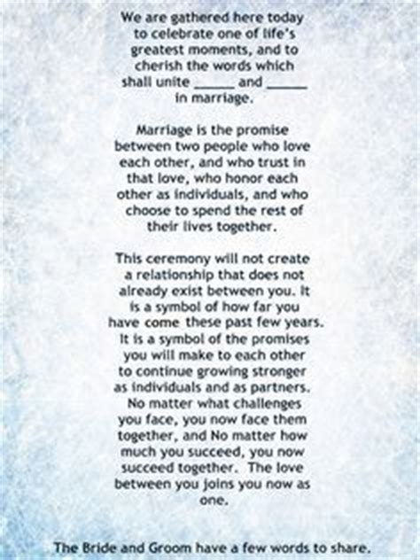 Wedding Vows Priest by My Non Religious And Sweet Wedding Ceremony Script