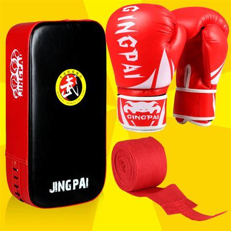 Beladiri Lainnya Boxing Gloves Pads Target Mitt 3 color muay thai fighting boxing gloves foot target mma pads punch mitt handwraps