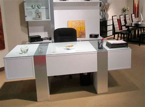 Sh01 White Lacquer Desk Executive White Executive Desks