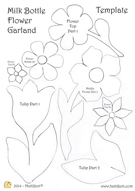Milk Bottle Flower Garland Hattifant Garland Template