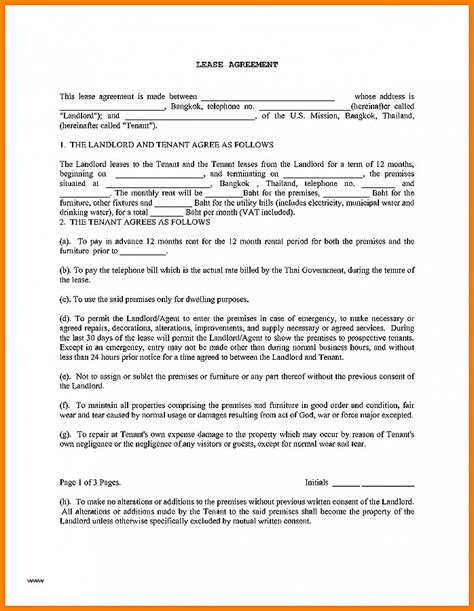 lease agreement luxury free copy of rental lease