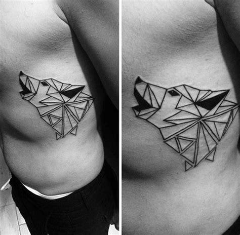 geometric rib cage tattoo 50 small geometric tattoos for men manly shape ink ideas
