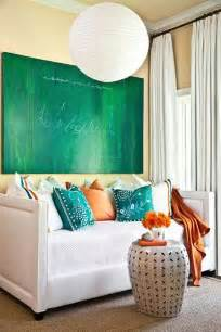 light blue and green colors soothing modern interior