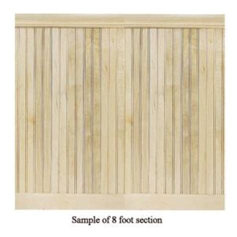 Tongue And Groove Wainscoting Home Depot House Of Fara 8 Linear Ft Maple Tongue And Groove