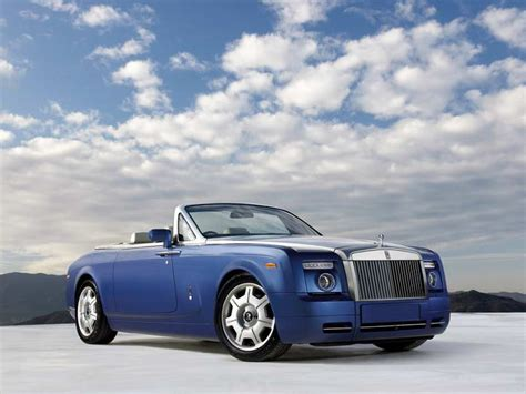 right front blue 2008 rolls royce phantom drophead car photo