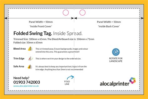 swing tag template product templates