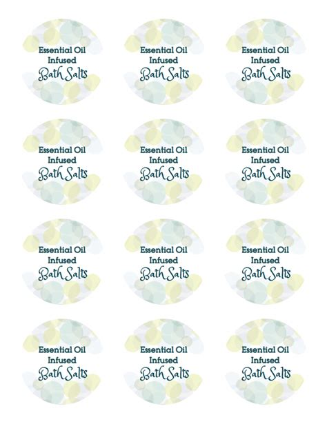 printable labels for essential oils how to make bath salts with essential oils and free
