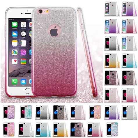 for apple iphone 7 6s 6 plus glitter hybrid tpu gradient cover ebay