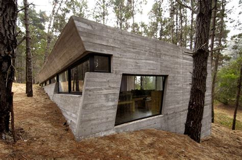 amazing concrete house plan for a rustic forest home in