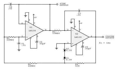 integrator circuit sine wave electronic circuits collections 1 hz sine wave generator