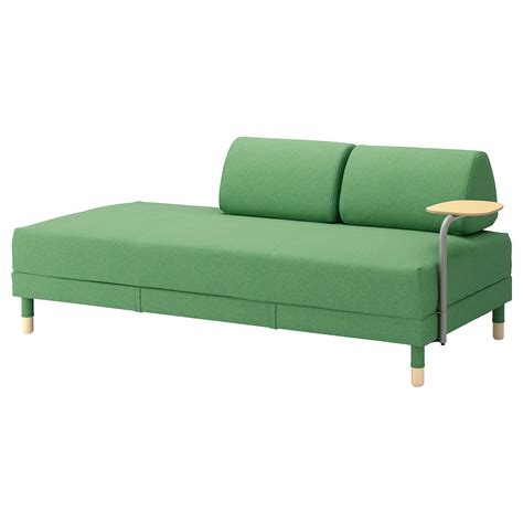 bettsofa futon flottebo sofa bed with side table lysed green 90 cm ikea