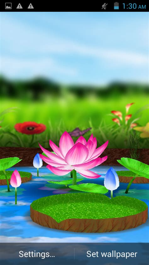 live wallpaper for pc touch screen lotus 3d live wallpaper android apps on google play