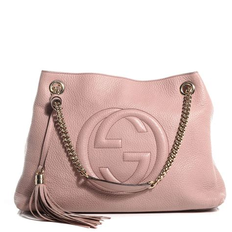 Cccnkkk Pink Chain Leather 100 Authentic gucci leather medium soho chain shoulder bag light pink 81969