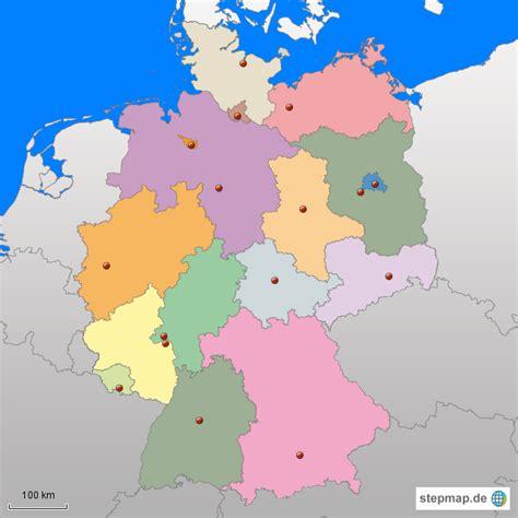 Deutsches Büro Grüne Karte Adresse by Bundesl 228 Nder Dieju Landkarte F 252 R Deutschland Alle