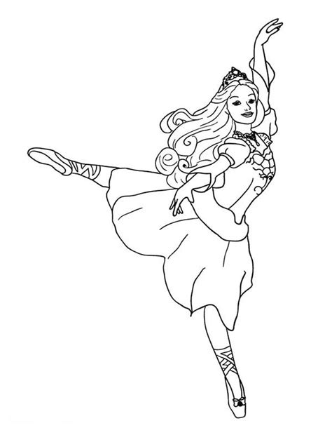 barbie dancing coloring pages free dancing barbie coloring pages