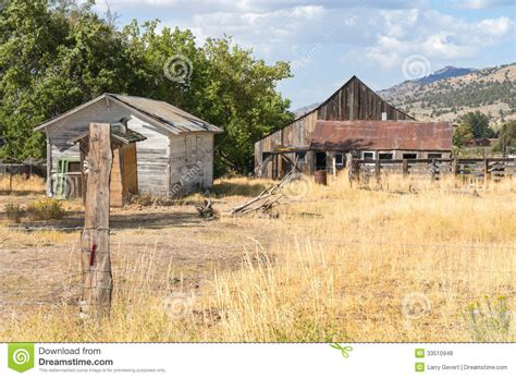 Barns Sheds And Outbuildings outbuildings in rural northern california royalty free
