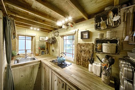 tiny house kitchen ideas mobile tiny tack house is entirely built by hand and