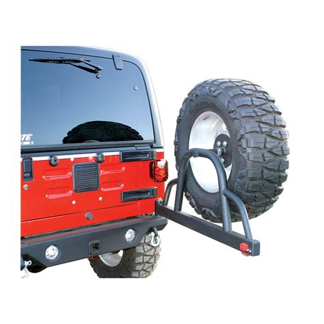 swing tire carrier rage products rear recovery bumper with swing away tire