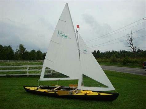 kayak boats sail folbot kayak with sails cing gear pinterest