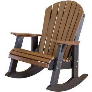 Little cottage co heritage fan back recycled plastic rocking chair