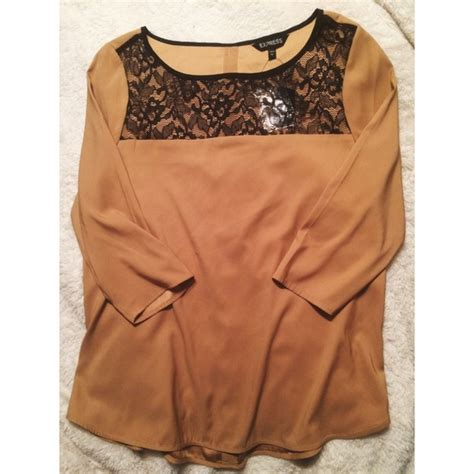 camel colored tops 43 express tops reduced camel colored lace
