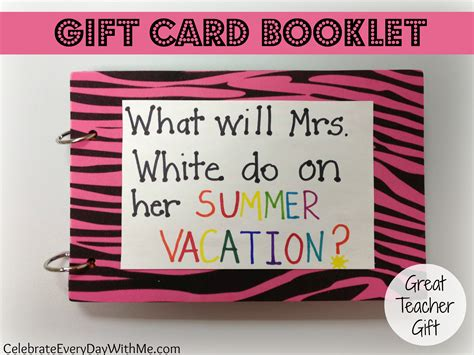 Gift Card Booklet - gift card booklet celebrate every day with me