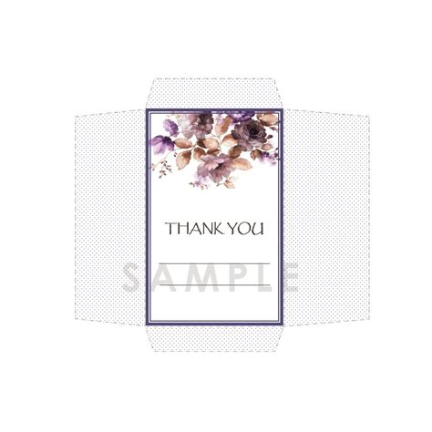 Thank You Letter Envelope Template Diy Seed Envelope Printable Template Thank You Purple