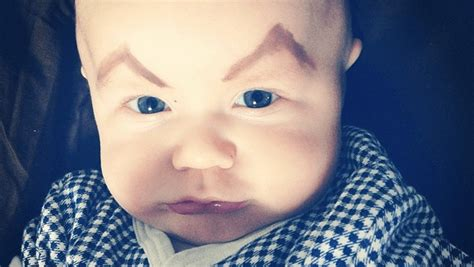 All About The Brows Baby 2 by 10 Pictures Of Babies With Eyebrows On