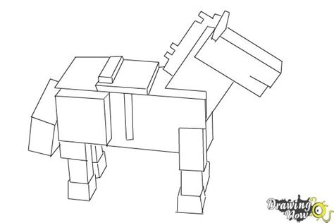 minecraft coloring pages horse how to draw the undead horse from minecraft drawingnow