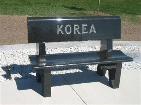 bench korea korea bench pow mia tobyhanna army depot fairview