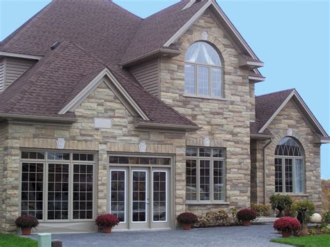 stone and siding house siding castle vinyl