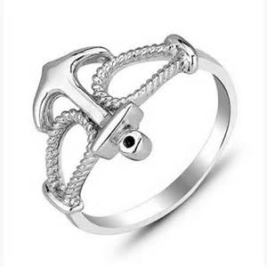 anchor style sterling silver s promise ring