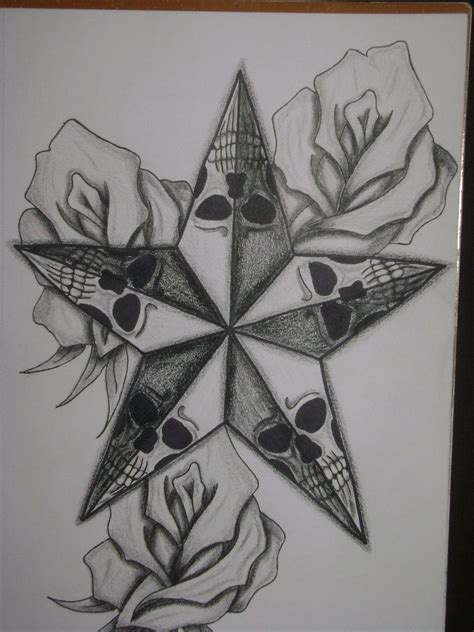 stars and roses tattoos skull skull and roses by tim1022 designs