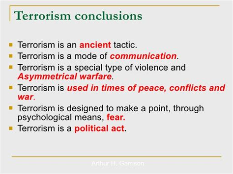 Conclusion On Terrorism Essay by Terrorism