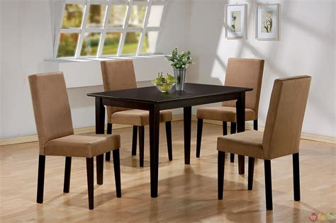 5 Piece Dining Room Set casual 5 piece microfiber upholstery dining room set