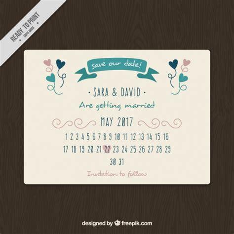 Wedding Card Design Calendar by Pretty Wedding Card With Calendar Vector Free