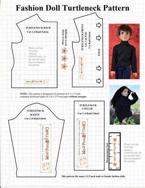 shirt pattern for ken doll free printable turtleneck pattern fits barbie 174 liv