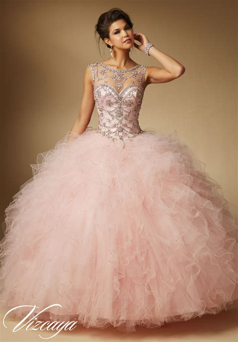 Ruffled Tulle Quinceanera Dress   Morilee