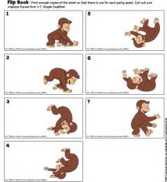 curious george printables flip book birthday party