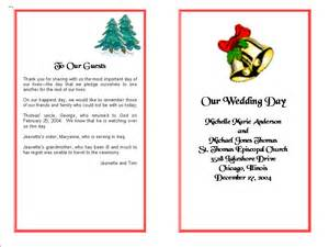 wedding program templates from thinkwedding s print your
