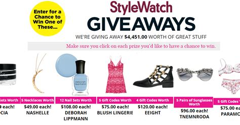 People Stylewatch Sweepstakes - people stylewatch april giveaway 46 winners win one of deborah lippmann nail sets