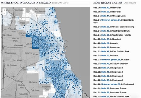 chicago homicide map map of chicago shootings my