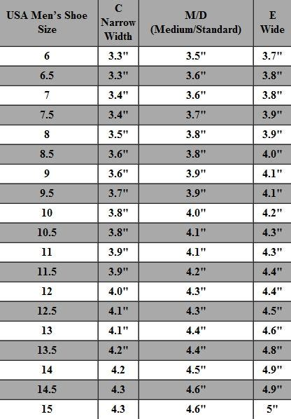 shoe size chart length and width 16 best shoe size charts images on pinterest shoe size