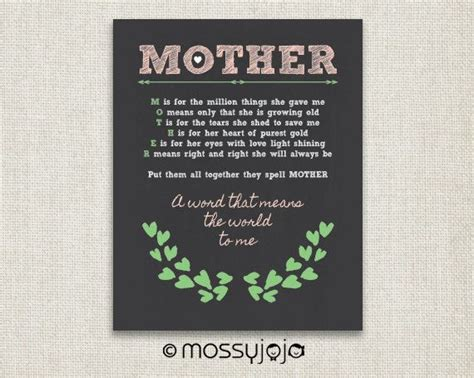 mother s day gift quotes mother gift inspirational quote gifts for mom chalkboard