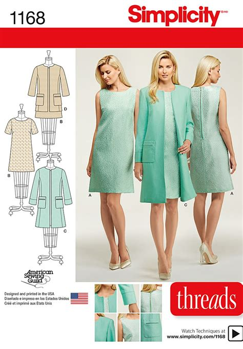 simplicity pattern website simplicity 1168 misses dresses and coat or jacket