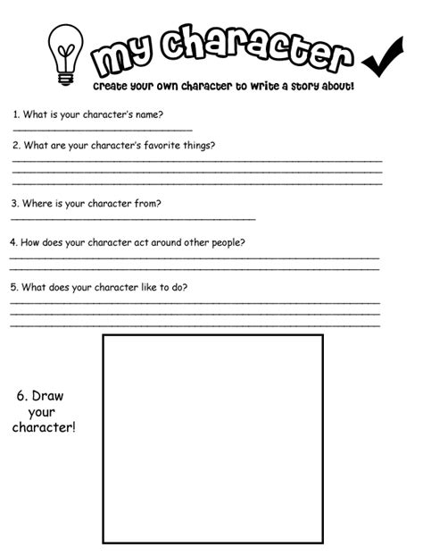 Create My Own Worksheet by My Own Character Worksheet By Kitskie On Deviantart