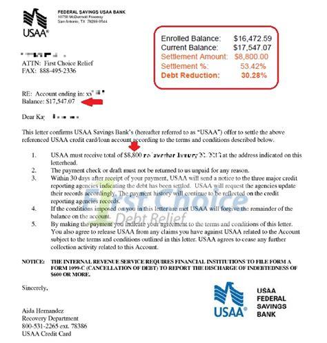 Debt Settlement Letters