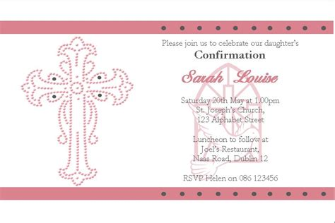 confirmation greeting card template personalised confirmation invitations design 2