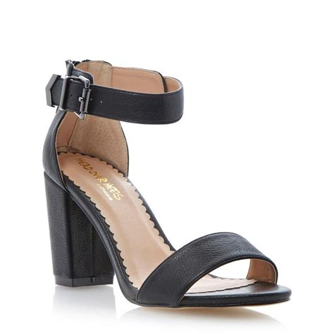 black ankle sandal heels heels black two part ankle block heel sandal
