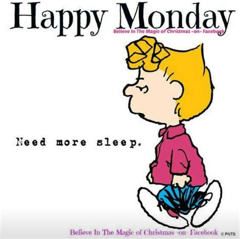 More On Monday The And Times Of The Thunderbolt Kid By Bill Bryson by Snoopy Happy Monday Need More Sleep A Days Thru